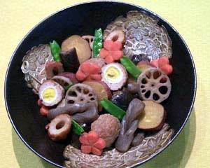 うずら卵つくねととよはし野菜のこっくり煮