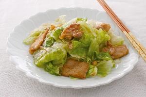 レタスと豚肉の中華炒め
