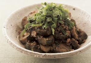 ナスとひき肉の炒め煮 シソ風味