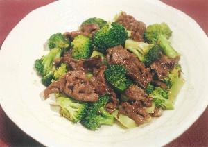 ブロッコリーと牛肉のカキ油炒め