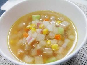 とうがんのコロコロ野菜スープ